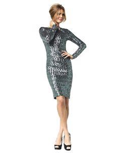 Brooke - dark silver sequins