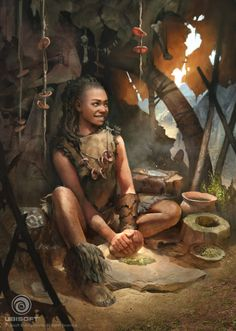 An illustration of Sayla for Far Cry Primal, by Naomi Savoie