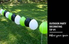 outdoor party decorating tip // define your space