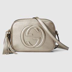 Gucci Mujer - Disco bag soho de piel metálica - 308364AH90G9524