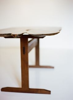 Walnut Dining Table, Bookmatched; Matthew Metzger Furniture