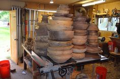 Rough-out bowls--paul russell, this is a pretty sight to see!! I probably can't make them, but are they not gorgeous!!!!