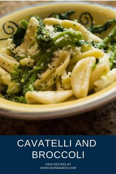 Authentic Cavatelli and Broccoli - Recipes - Brokkoli Rezepte Broccoli Recipes, Cavatelli Recipe, Recipes With Cavatelli Pasta, Rigatoni Recipes, Pasta Dishes, Food Dishes, Cooking Fresh Pasta, Traditional Italian Dishes, Italian Foods
