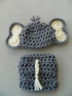 Handmade, crochet newborn Elephant hat, Boy Elephant hat, Elephant outfit, Photo prop
