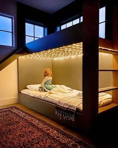 A childhood dream bedroom 🤩✨This room has us reminiscing (Designer: @angelarosehome). Click the image to try our free home design app.  Keywords: home decor kids, creative home decorating ideas, diy home decor kids, children room design, pattern interior design, childrens furniture, bedroom design, interior design ideas bedroom, interior color scheme, home decor ideas diy, bedroom home decor, neutral interior design, open shelving, wall decor, wall art, decorative pillows, pretty home decor Dream Bedroom, Home Bedroom, Kids Bedroom, Master Bedroom, Bunk Beds For Girls Room, Bunk Rooms, Interior Color Schemes, Interior Design, Kids Room Design