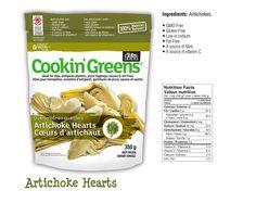 Frozen Artichoke Hearts from Cookin' Greens Frozen Artichoke Hearts, Vitamin C, Grocery Store, Gluten Free, Yummy Food, Canning, Eat, Shelf, Packaging