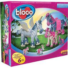 Bloco Horses and Unicorns Building Set