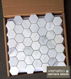 Carrara Venato 2x2%22 Hexagon