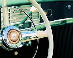 Classic car turquoise green vintage automobile by LittleFotoFox, $20.00