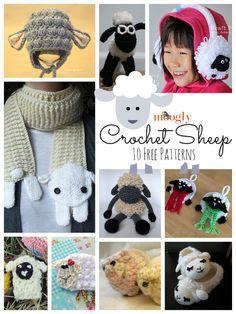 10 patrones lindos estupendos para #Crochet Ovejas y Corderos! Todo gratis!