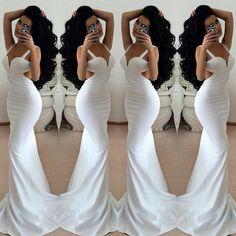 Sleek white & hair