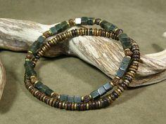 Mens Bracelet  Beaded Bracelet  Mans Jewelry  by StoneWearDesigns