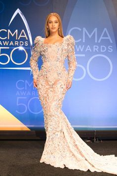 Beyoncé at the 50th annual CMA Awards at the Bridgestone Arena on November 2, 2016 in Nashville, Tennessee.