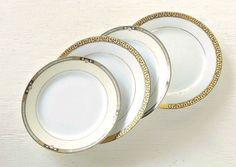 Hollywood Regency Mismatched Dessert Plates by RosebudsOriginals