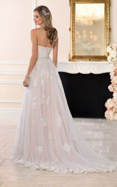 Stella York is  available at Belle Bridal and Formal Shoppe, Bellevue Bridal Boutique, Belltown Bride and New Beginnings Bridal Studio. #seattlebride