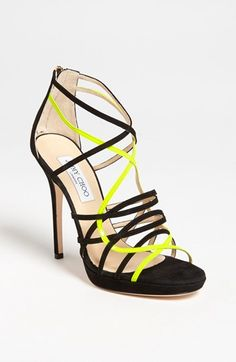 Love this pop of neon in this Jimmy Choo strappy sandal!