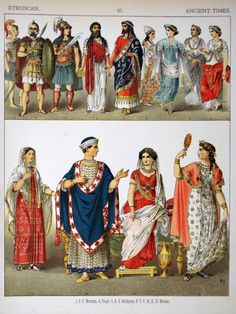 Description Ancient Times, Etruscan. - 015 - Costumes of All Nations ...