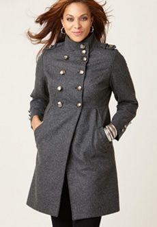 gray military coat.