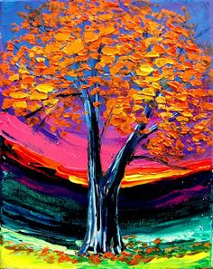 Impasto painting landscape by Aja