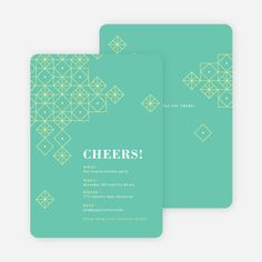 Festive Décor Holiday Party Invitations from Paper Culture