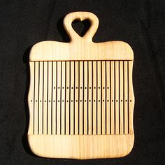 Rigid heddle with heart