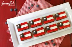 Fudgy Patriotic Brownies - from a farmgirl's dabbles