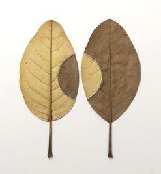 壊れやすい枯れ葉を繊細に縫い合わせる、スザンナ・バウアーのかぎ針編みアート:小太郎ぶろぐ