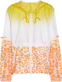 Adidas by Stella McCartney Travel Pack hooded leopard print shell jacket adidas by Stella McCartney