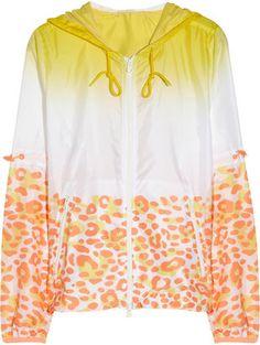Adidas by Stella McCartney Travel Pack hooded leopard print shell jacket adidas by Stella McCartney
