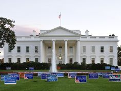 White House Lawn Covered In Congressional Campaign Signs