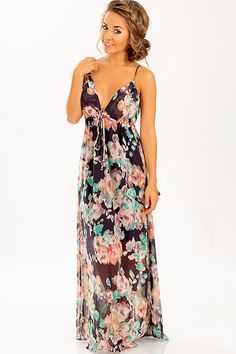 Rose To Fame Dress: Navy/Multi