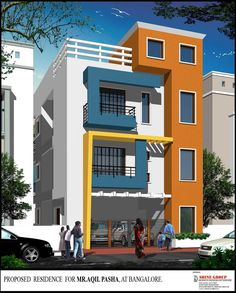 3 Storey House Designs In India . 3 Storey House Designs In India . Home Design Beautiful Elevation for A Three Storey House 3 Storey House Design, Duplex House Design, House Front Design, Small House Design, Modern House Design, Front Elevation Designs, House Elevation, Building Elevation, Style At Home