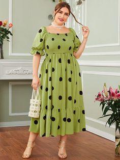 Modest Dresses, Stylish Dresses, Simple Dresses, Plus Size Dresses, Plus Size Outfits, Casual Dresses, Frock Fashion, Skirt Fashion, Fashion Outfits