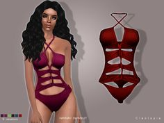 This gorgeous piece features a cross-strap design and gives you that perfect hourglass figure. Comes in 6 colors, CAS thumbnail included. Handdrawn textures Found in TSR Category 'Sims 4 Female...