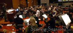 Scoring Sessions - images from Hollywood sound stages (and others).  Photos of recording sessions, conductors, composers and more.