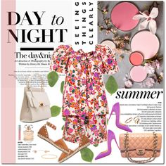 Day to Night by stellaasteria on Polyvore featuring Yves Saint Laurent, Valentino, Christian Louboutin, Chanel, Balenciaga, Chloé, Judith Jack, Dana Rebecca Designs, Sydney Evan and Christian Dior