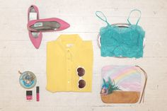 Bright colours and favourite accessories