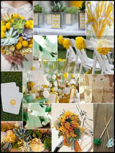 5. Color Scheme: Lemon yellow & succulent green. #modcloth #wedding