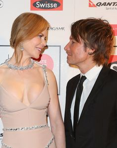 Nicole Kidman and Keith Urban shared the look of love at the Celebrate Life Ball in Melbourne, Australia, on Friday.