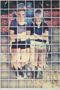 Celia's Children Albert + George Clark Los Angeles April 7th 1982 composite polaroid, 35 x 23 1/4 in.