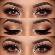 """ @_jessicaivone ✨Shadow Couture palette on eyes ✨ #Dipbrow medium brown on brows ✨ @kokolashes in ""Goddess"" #anastasiapalette #anastasiabeverlyhills"""