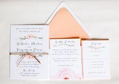 Beautiful Watercolor Floral Wedding Invitation: by twigandjuniper