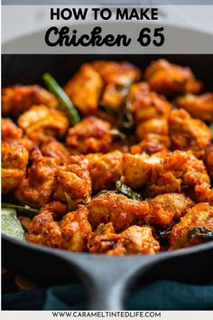 Delicious Indian fried chicken coated with spicy masala and curry leaves. An easy recipe for chicken 65, with step by step instructions. Indian restaurant-style appetizer. #delicious #easy #recipe #tasty #authentic #chicken #65 #chili #Indian Gluten Free Chicken, Easy Chicken Recipes, Indian Fried Chicken, Fried Chicken Coating, Indian Appetizers, Easy Indian Recipes, Recipe Tasty, Curry Leaves, 30 Minute Meals