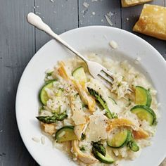 Easy Chicken Recipes: Chicken Risotto with Spring Vegetables