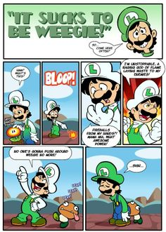 "#Luigi stars in another fine ""It Sucks to be Weegie"" #Comic by Interrobang Studios. More from the Green Bro @ http://www.superluigibros.com/ Mario And Luigi, Mario Kart, Mario Bros., Mario Memes, Mario Funny, Mario Comics, Gamer Humor, Gaming Memes, Super Smash Bros"