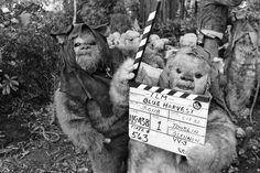 behind the scenes photos of Return of The Jedi