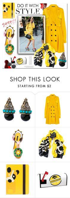 """Yellow!!"" by bellamonica ❤ liked on Polyvore featuring Marissa Webb, Dolce&Gabbana, Black, Orla Kiely and yellowdress"