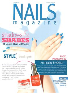 Nails Magazine Style Boutique featuring Dermelect Cosmeceuticals Anti-Aging Products Outcrease Retinol Trifecta Serum and the Age Def-Eye Cream!