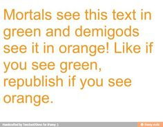 By the way, don't freak out if you see one colour and someone else sees another. Some see orange, and some people's eyes are wired to see green. :D