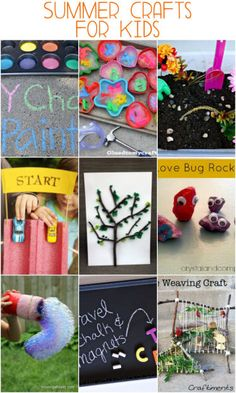25 Easy summer crafts for kids - keep kids entertained for hours! DIY Activities, party gifts, craft idea and more!